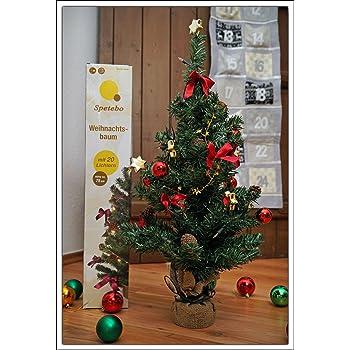 weihnachtsbaum komplett geschm ckt 75 cm batterie betrieben christbaum mit 20 led. Black Bedroom Furniture Sets. Home Design Ideas