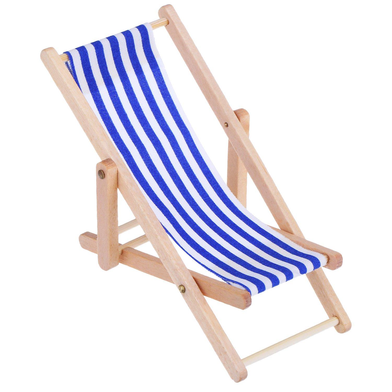 Sedie A Sdraio In Miniatura.2 Pezzi 1 12 Sedia In Miniatura Da Spiaggia Chaise Longue In Legno