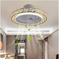 YUNZI Ventilateur Plafond LED Reversible Ventilateur Silencieux Plafond Lumiere Plafonnier Ventilateur Design Plafonnier…