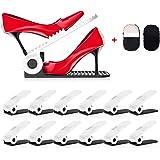 HOBFU Space Saver Verstelbare schoenenrekken, schoenenorganizer, schoenenhouder, 4 niveaus, hoogte voor meisjes, dames en fam