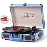 dodocool Platine Vinyle Bluetooth, Tourne-Disque Retro 33/45/78 TR/Min avec des Haut-parleurs Stéréo Intégrés, Soutien l' Enregistrement à MP3, SD/ USB/ Aux Entrée/ Sortie RCA