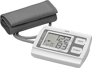 AEG BMG 5611 Blutdruckmessgerät für den Oberarm, vollautomatische Blutdruck- und Pulsmessung, 3-Werte-Anzeige (Systole/Diastole / Puls), LCD-Display, Bewertungssystem der WHO, einfache Handhabung