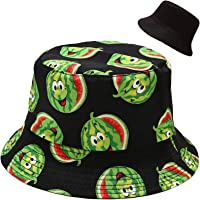 Malaxlx Cappello da Pescatore Donna Uomo Cappello da Sole Reversibile Pieghevole Cappello da Pesca Cotone Viaggio…
