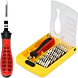 Apsung 37 in 1 Precision Screwdriver Set with Slotted, Phillips, Torx& More Bits, Non-Slip Magnetic Electronics Tool Kit for