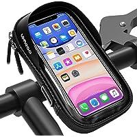 LEMEGO Support Téléphone Vélo Etanche, Sacoche Vélo Guidon Cadre Housse de Téléphone Rotatif pour Vélo VTT Moto Scooter…