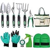 DEWINNER Outils de Jardinage, Trousse-Cadeau d'outils à Main, Tout-en-Un 11Pièces Transplantation de Jardinage en Plein Air p