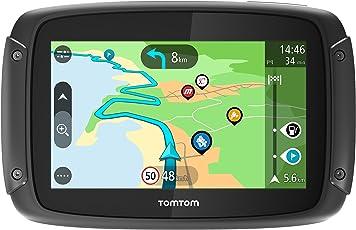 Tomtom Rider 500 Motorrad-Navi (4,3 Zoll, mit kurvigen und bergigen Strecken Speziell für Motorrüder, Updates über WI-Fi, Kompatibel mit Siri und Google Now)