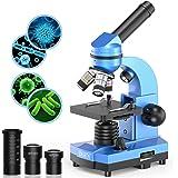 Microscopio science per bambini, principianti e studenti, 40 x 1000 microscopi composti con 52 kit educativi