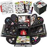 int!rend Caja de regalo | Caja de sorpresa explosion box, con 5 plantillas | Regalo para cumpleaños, boda, San Valentín | Caj