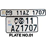 Moto Bike Aluminium IND Number Plates