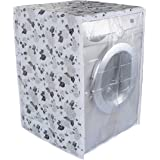Classic® Front Load Washing Machine Cover for IFB 5.5 Kg 6 Kg & 6.5 Kg (50cmsX63cmsX81cms_Half White,Grey) Pack of : 1 Washin