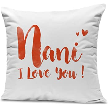 Tied Ribbons Mother'S Day Gifts For Grandmother Printed Cushion(12 inch X 12 inch) With Filler