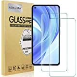 AOKUMA Xiaomi Mi 11 Lite pantserglas, 2 stuks, compatibel met Xiaomi Mi 11 Lite beschermfolie, premium glasfolie met 9H hardh