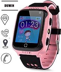 DUWIN NEWIntelligente Handyuhr der Kinder Wasserdichte Positions-Farbenschirm Screenkarte, Zum der Handyuhr zu Tragen Unterstützen Sie 2G Netzwerk-SIM-Karte
