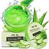 Janolia Gel di Aloe Vera Antiossidante, 300 ml Gel di Bellezza Maschera Naturale per il viso, Lenitiva e Idratante per Viso,