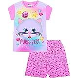 Pijama corto de verano con diseño de gato Emoji Purr-FECT