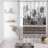 rideau de douche avec crochets 180 x 200 cm polyester imprime tikal des. place