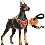 Supet Anti-drag hundsele, vadderad bröstsele med reflekterande remsor, mjuk justerbar sele för hundar, hundsele som andas för