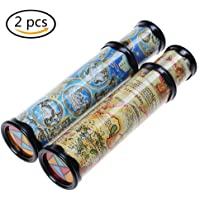 2 Pack Magic Kaleidoscope Classic Game Educational Toys Perfect Gift for kids Party Toy for Kids Children, 2 Colors