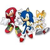 ALMACENESADAN 0892, Pack 4 Silhouettes 30 cm Sonic, pour la décoration de fêtes et Anniversaires