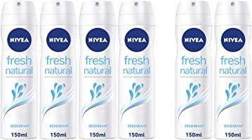 NIVEA, Deodorant Female, Fresh Natural, Spray, 4 + 2 x 150ml