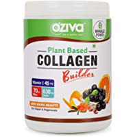 OZiva Plant Based Collagen Builder for Anti-Aging Beauty, Skin Repair & Regeneration (with Sea Buckthorn, Acerola Cherry, Acai Berry & more), 250g