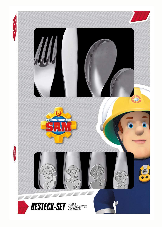 Frühstücksset mit Feuerwehrmann Sam Motiv POS 27123 3 teiliges Geschirrset fü