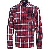 Camisa Jack&Jones Hombre Rojo 12161513 JORBROOK Shirt LS Brick Red Slim
