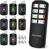 Magicfly Localisateur d'objets de Clé Portefeuilles, Key Finder Anti-Perte Téléphone Chercheur Alarme Trouve-clés, avec Mini-Autocollants Porte Clés Siffleur, 1 Télécommande et 8 Récepteurs