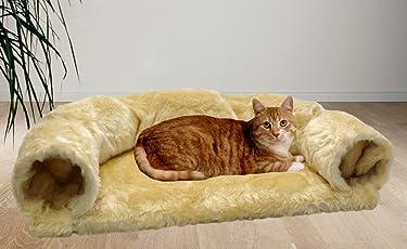 Cat Dream Katzen-Spielsofa Beige Katzenliege Katzenkissen Katzensofa Katze Zubehör
