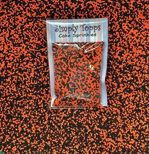 30g Essbar Schwarz & Orange 100s & 1000 s Hunderte und Tausende Nicht Pareils 1.5mm Mini Sugar Bälle Perlen Streusel Tasse Fee Kuchen Dekoration Toppers Halloween-Party Celebrations
