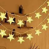 HOMVAN Catene Luminose 50 Stelle 7.5M Batteria Alimentata LED Luci Illuminazione Decorativa Ideale per Albero di Natale Hallo