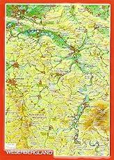 Reliefpostkarte Weserbergland