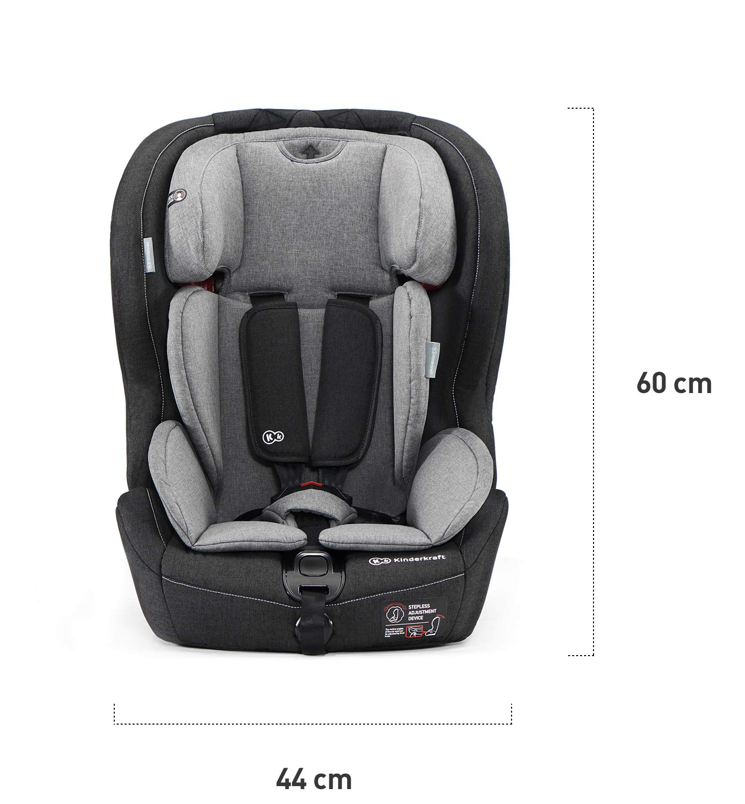 Kinderkraft Car Seat Safety FIX Child's Combination Booster Seat with ISOFIX and Top Tether Group I/II/III (9-36kg) to Approx. 12 Years Safety Certificate ECE R44/04 Navy kk KinderKraft Car Seat - The Safety-Fix car seat grows together with your child. Secure - Equipped with fixing system ISOFIX + Top tether, which guarantees a stable and safe position for your child. Comfort - Hight adjustable 5-point internal harness and 10-step adjustment headrest means the seat will serve your child for years. 6
