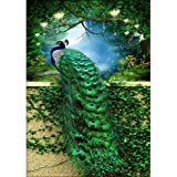 40x60 DIY 5D Diamond Painting Kits Full Drill Diamond Embroidery Green Peacock Diamond Mosaic Crafts