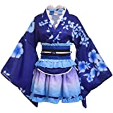 MN-35 Gugure Kokkuri-San Japan Fuchs Geist weiß Kimono Yukata Set Cosplay Kostüm