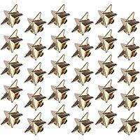 Chudian 30 Pezzi Spilla a Forma di Stella,Oro Distintivo della Stella con 5 Punte Spilla Pin Stella 1.8CM per Festa di…