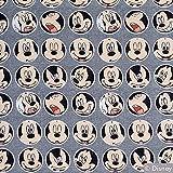 Stoff Baumwolljersey Disney Mickey Mouse Kreise 50cm x