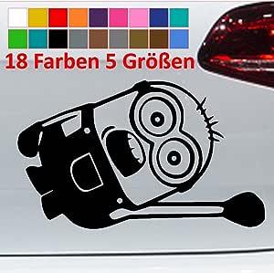 Generic Minion Hanging Auto Seite Car Tuning Jdm Vw Aufkleber Sticker 18 Farben 5 Größen Küche Haushalt