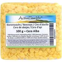 ActiveTimeLife® Bienenwachs Pastillen gelb 100 g   Premium   ideal für Kosmetik Kerzen Cremes Salben Seifen Wachstücher