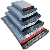 Dhoole Lot de 100 sacs d'expédition en plastique Gris