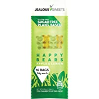 Jealous Sweets Vegan Sweets - Plant Based - Gluten Free - Natural Fruit Flavours - Happy Bears - 24g Shot Bag (Pack of…
