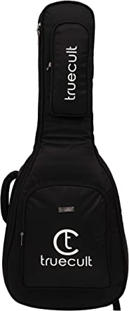 True Cult Acoustic Guitar Bag/Cover with Foam Padding {Black} Strong and Durable for all sizes and shapes folk/classical guit