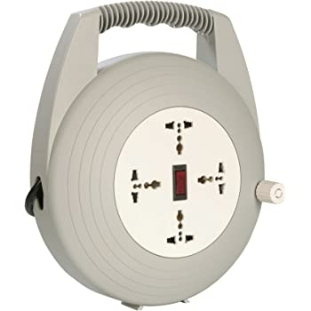 Havells 4 Way Round Extension Board (Grey and White)