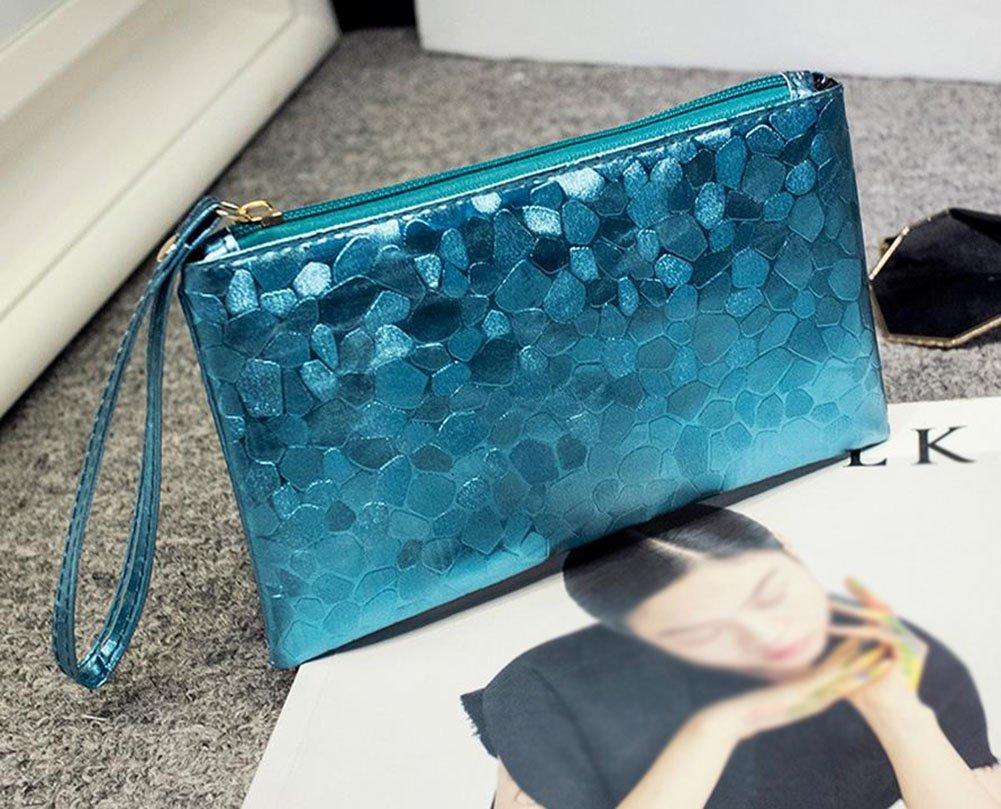71Somw9p8rL - Fansi - Bolso de mano multifunción para mujer, 1 unidad, bolsa de almacenamiento, pu, azul, 19*11*2cm