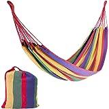 Milestone Camping 13950 Rainbow Outdoor Garden Hammock, Multi-Coloured, Single, L2m x W1m