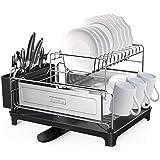 SHAN ZU Égouttoir à Vaisselle Cuisine à 2 Niveaux en Acier Inoxydable 304, Support à Vaisselle Détachable de Grande Capacité,
