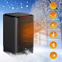 iBazal Chauffage électrique Céramique avec Thermostat 3 Mode, Réchauffeur d'espace 450/950W, Electrique Radiateur Ventilateur Chauffe Protection Contre Surtensions/Surchauffe pour Bureau/Intérieur