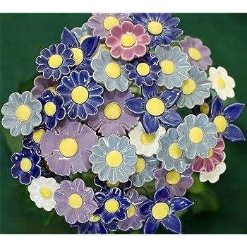 ROWE Deko Blumenset 10 Keramikblumen Frühling