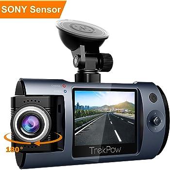 ABOX Dashcam 1080P - Camera Embarquée Voiture Full HD Mini avec Objectif  Rotatif 180°, Ecran LCD 2